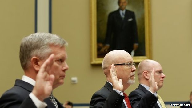 US officials are sworn in before congressional committee
