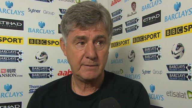 Manchester City caretaker manager Brian Kidd
