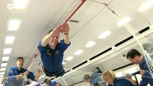 Astronaut Tim Peake in training