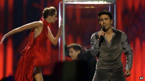 Farid Mammadov, Azerbaijan singer at the Eurovision Song Contest, 18 May 2013