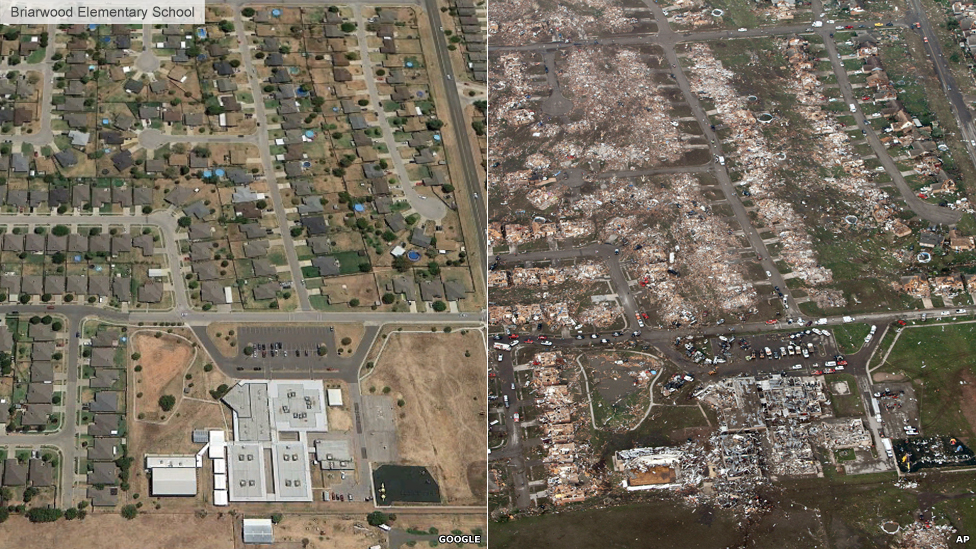 Briarwood Elementary School before and after