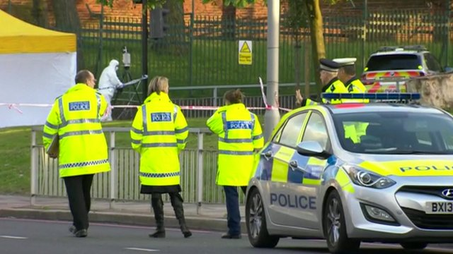 Police at the scene of the Woolwich attack