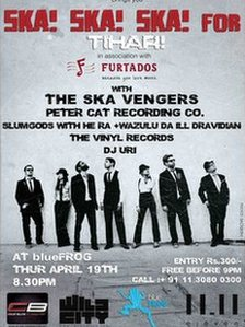 The Ska Vengers poster for last year's Tihar performance
