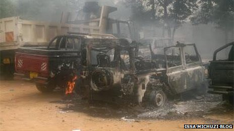 Cars attacked in Mtwara during protests in May 2013