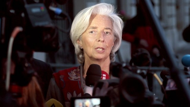 Head of the International Monetary Fund (IMF), France's Christine Lagarde