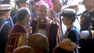The Princess Royal meets Bishop James Jones