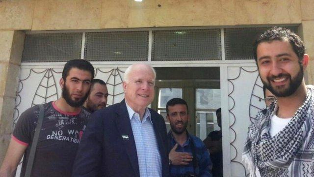 Senator John McCain in Syria