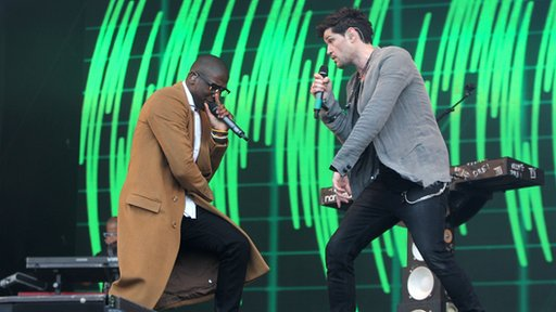 The Script and Labrinth performing at Radio 1's Big Weekend