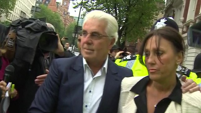 Max Clifford outside Westminster Magistrates' Court