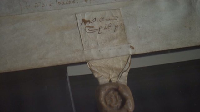 Shakespeare's deeds for a property in Blackfriars