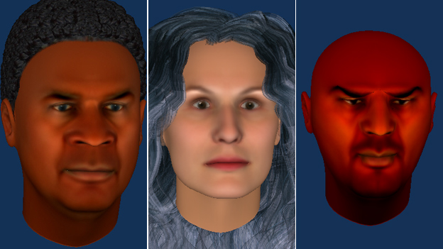 Three avatars created by patients