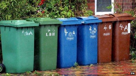 Wheelie bins in Harrow
