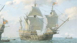 Painting of the Mary Rose
