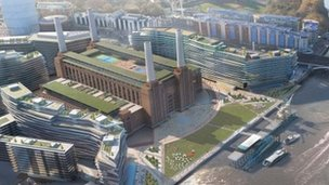 Artists' impression of the revamped Battersea Power Station