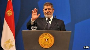 Egyptian President Mohammed Morsi, 29 May