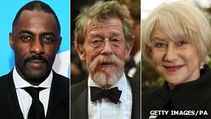 Idris Elba, John Hurt and Dame Helen Mirren