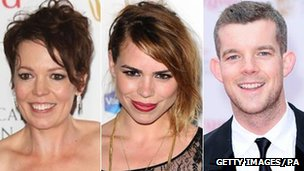 Olivia Colman, Billie Piper and Russell Tovey
