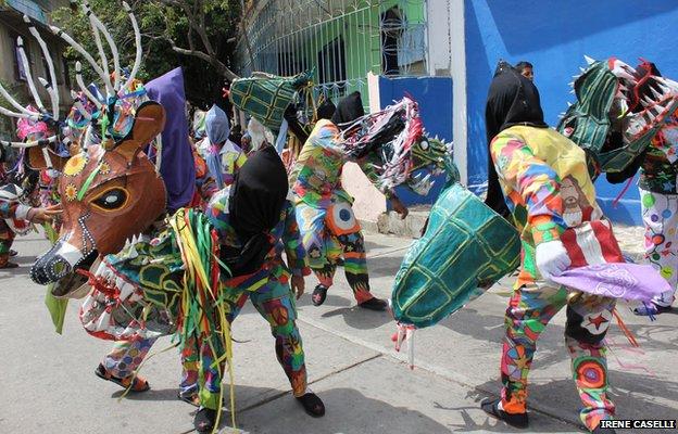 Dancing Devils perform in Naiguata on 30 May 2013