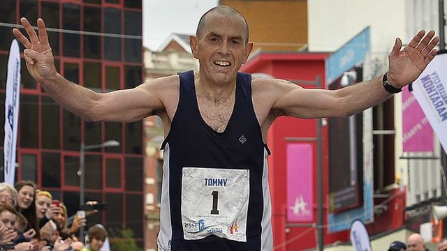 Walled City marathon winner Tommy Hughes