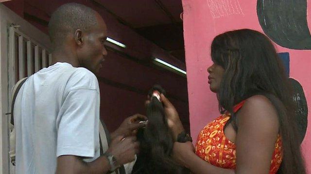 People in Kinshasa