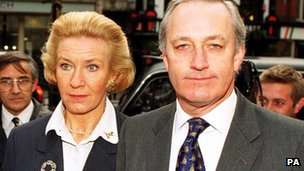 Neil and Christine Hamilton at the High Court