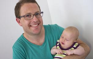 Mark Bosworth and baby Annika