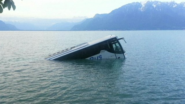 A bus in Lake Geneva