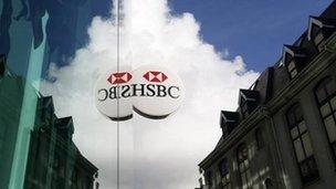 HSBC bank sign