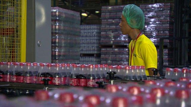 Coca-Cola's new bottling plant in Burma