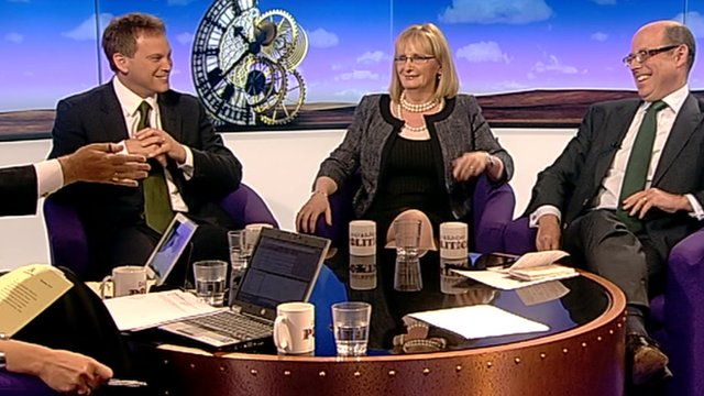 Grant Shapps, Margaret Curran and Nick Robinson