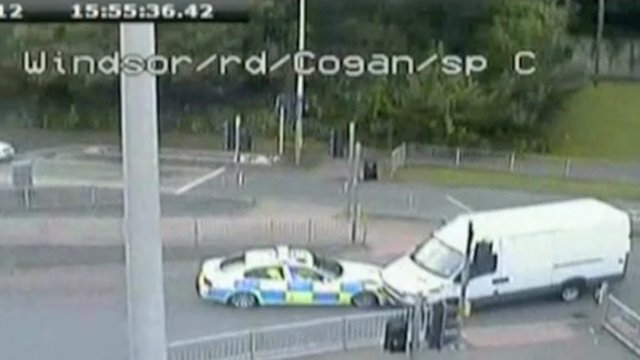 CCTV images of when police stopped Matthew Tvrdon