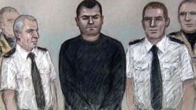 Artist's impression of Matthew Tvrdon in court