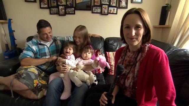 Emma Day and family in Cheltenham