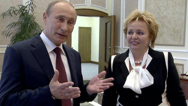 Vladimir Putin and his wife Lyudmila