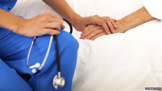 Generic image of nurse holding a patient's hand