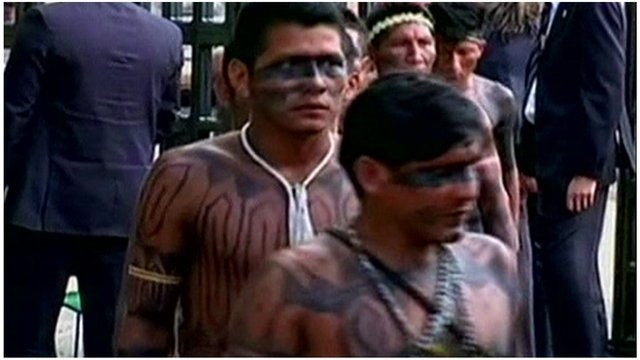 Members of the indigenous Terena tribe