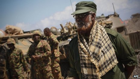 Ahmed Madobe, a self-declared leader of Jubaland, pictured in October 2012