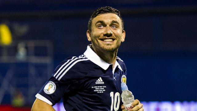 Scotland scorer Robert Snodgrass