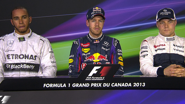Top three qualifiers at Canadian GP
