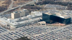 NSA headquarters at Fort Meade, Maryland (file image)