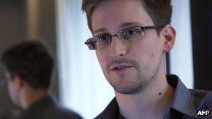 Screenshot of Eric Snowden on 6 June 2013