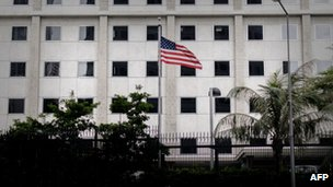 The US consulate in Hong Kong, 10 June 2013