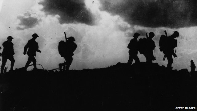 British soldiers during WWI