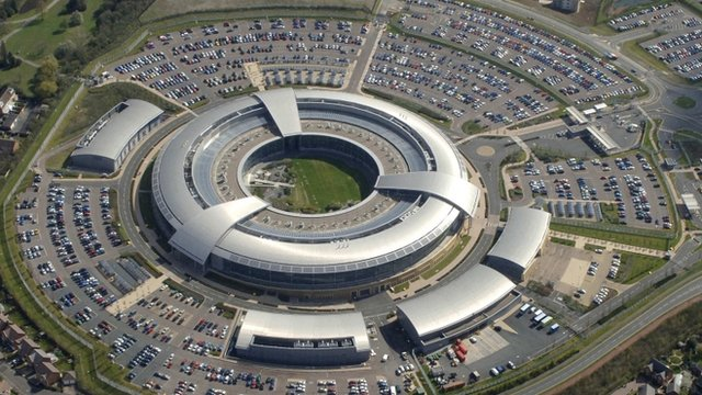 Aerial view showing Government Communications Headquarters (GCHQ) in Cheltenham is seen in this undated handout aerial photograph. Reuters/Handout