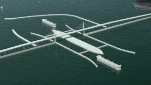 An image of how the Severn Barrage would look