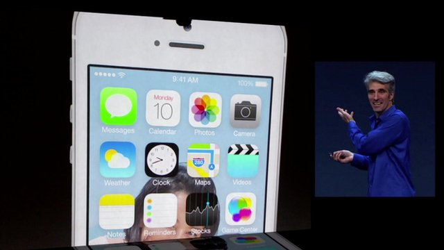 Craig Federighi shows off new iOS design