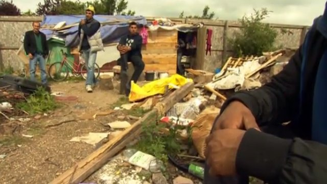 Romanians have set up camp in north-west London