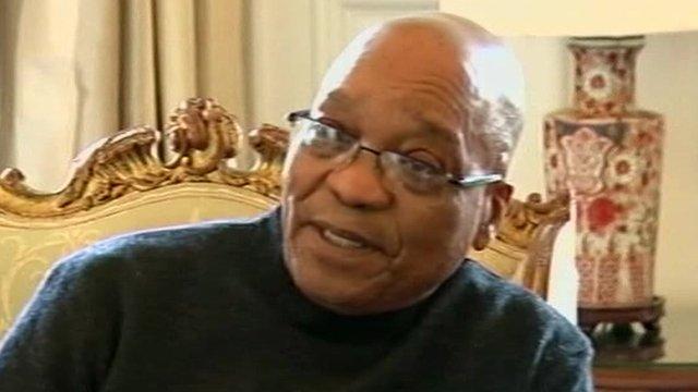 South African president, Jacob Zuma