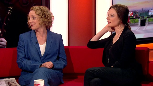 Philippa Gregory and Rebecca Ferguson