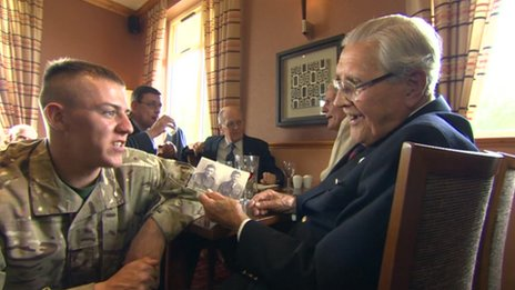 Military reminiscence session